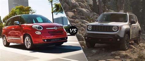 fiat jeep 2016 2016 fiat 500l vs 2016 jeep renegade