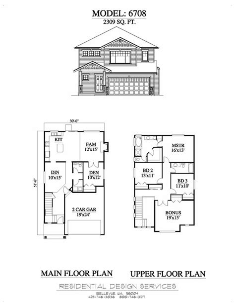 Simple Two Story House Design by Example6708