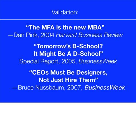 Mfa New Mba Daniel Pink meaningful innovation