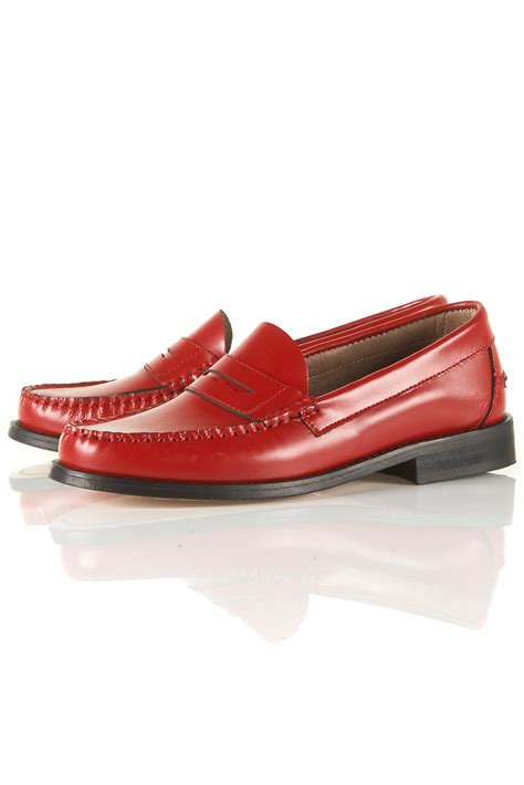 jw loafers topshop leather loafers by jw for topshop in