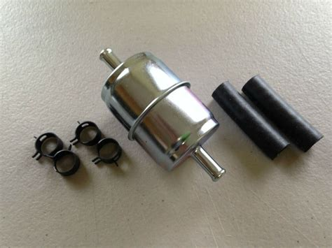 gki gfm  metal inline gasfuel filter hosesclamps fits   gf ebay