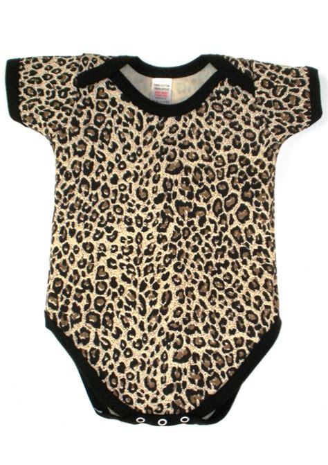 Leopard print baby grow cute animal print baby grow