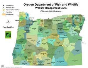 Oregon Hunting Map by Odfw Wildlife Management Unit Map