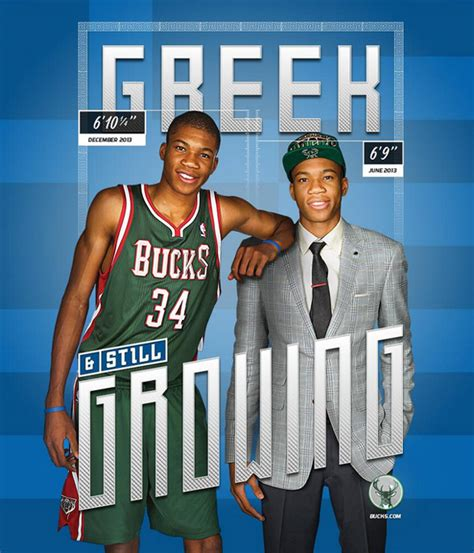 growing giannis bucks rookie has grown more than an inch