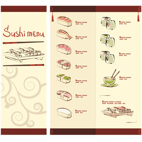 sushi menu template vector japan sushi menu templates 02 vector cover