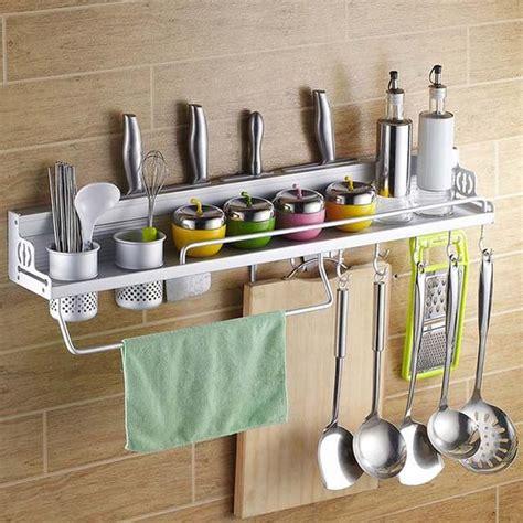 Rak Tempat Bumbu Dapur jual rak dinding dapur aluminium serbaguna rak gantung