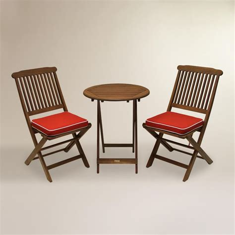 Small Bistro Chair Cushions Our Affordable Outdoor Bistro Set Features A Table Two Easy To Store Folding Chairs And