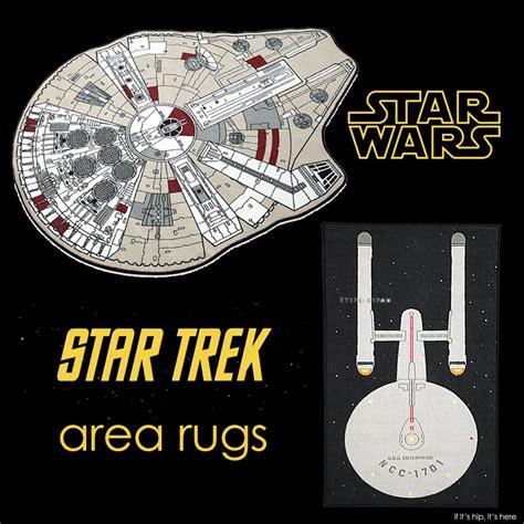 Trek Rug by Decor The Millenium Falcon Or The Uss Enterprise
