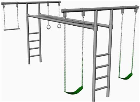 tall swing set hl 50 8 foot tall heavy duty swing set adjustable monkey