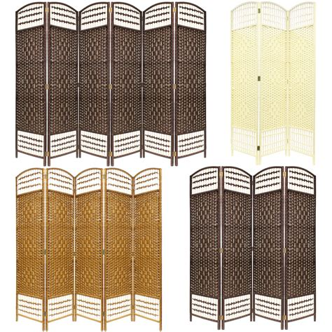 made wicker room divider separator privacy screen