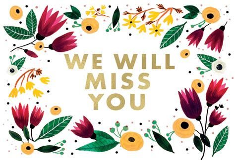 imagenes de i will miss you we will miss you tarjeta te extra 241 o para imprimir gratis