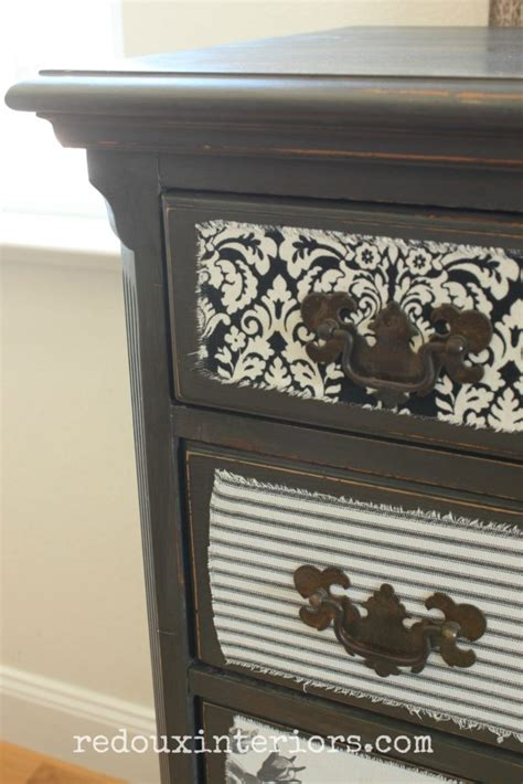decoupage dresser with fabric how to decoupage fabric painted wood