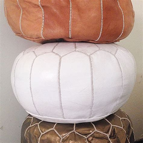 light tan moroccan pouf tan brown moroccan pouf leather cush co australia