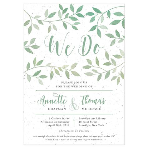 wedding invitation catalogs free lovely leaves plantable wedding invitation plantable wedding invitations catalog botanical