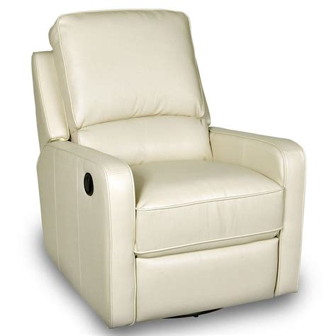 swivel recliner perth swivel rocker recliner cream opulence home 1170