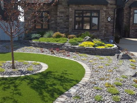 Foundation Bed Of Perennials And Shrubs The Rock Wall Creative Landscape Design