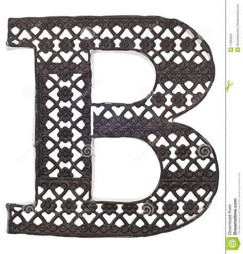 Decorative Letter B by Decorative Metal Letter B Stock Photos Image 17685953