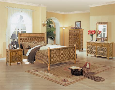 bamboo style bedroom furniture woven wicker bedroom furniture derektime design dreamy