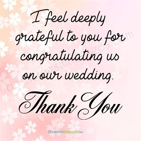 Wedding Wishes Thank You Messages by Thank You For Wedding Congratulations Messages Occasions