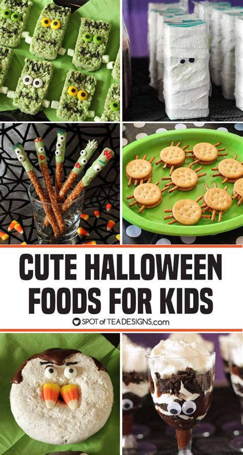 Cute Halloween Food Ideas for Kids   Spot of Tea Designs