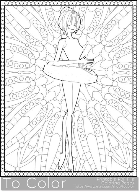coloring pages of background ballet printable coloring pages for adults ballet girl