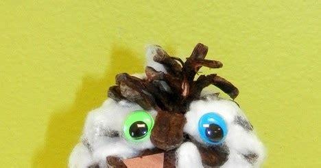 Tippytoe Crafts Snowy Owls - tippytoe crafts pine cone snowy owls