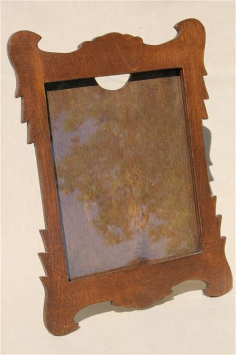 cottage style picture frames swiss cottage style vintage wood picture frame w easel