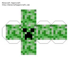 How To Make A Paper Creeper From Minecraft - papercraft creeper
