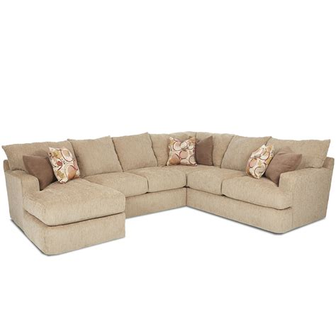 Klaussner Sectional Sofa Klaussner Oliver Contemporary Three Sectional Sofa Dunk Bright Furniture Sofas