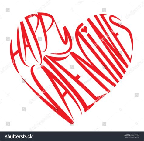 happy valentines day design letters stock vector