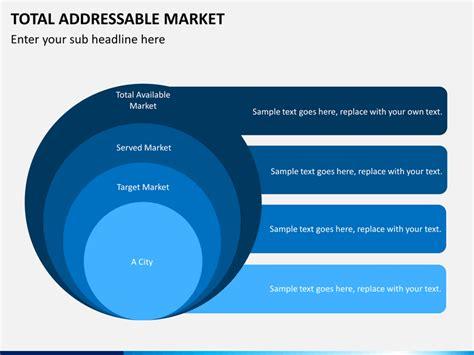 addressable template total addressable market powerpoint template sketchbubble
