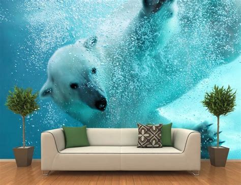 wall mural pictures polar underwater attack wall mural 187 review