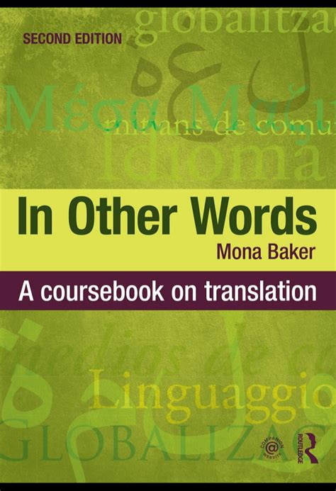 in other words mona baker in other words a coursebook on translation