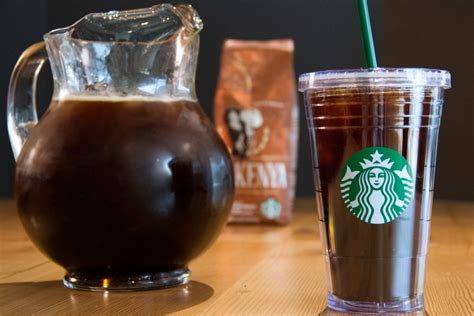 Iced Coffee Starbucks how to brew a pitcher of starbucks iced coffee at home in five simple steps starbucks