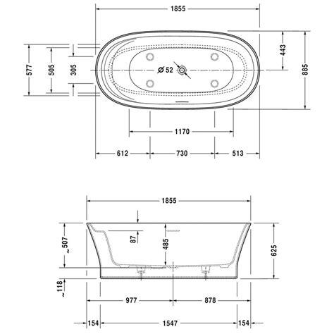 badewannen abmessungen duravit cape cod badewanne freistehend 185 5 x 88 5 cm