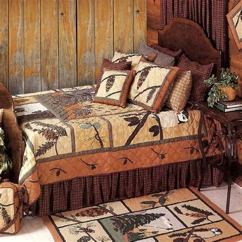 pinecone bedding pinecone quilt collection cabin place