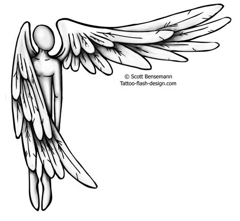 simple angel tattoos guardian drawing at getdrawings free