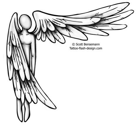simple angel tattoos guardian drawing at getdrawings free