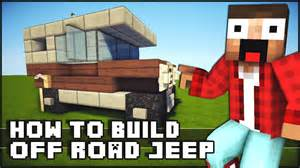 Minecraft vehicle tutorial how to build off road jeep youtube