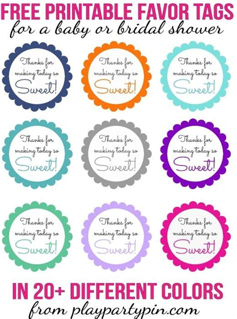 Printable Thank You Tags For Baby Shower Favors by 25 Best Ideas About Favor Tags On