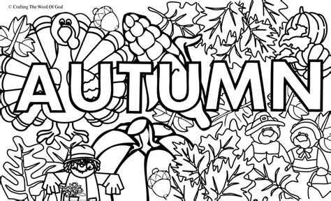Autumn Coloring Pictures by Autumn Coloring Page 1 Coloring Page 171 Crafting The Word