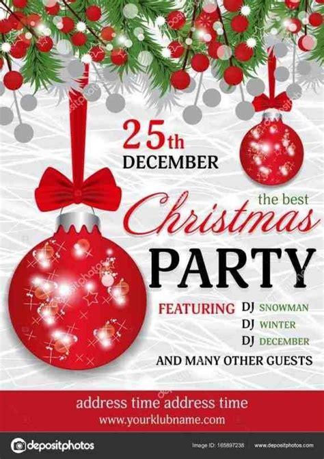 christmas invitation background christmas party invitation template christmas party