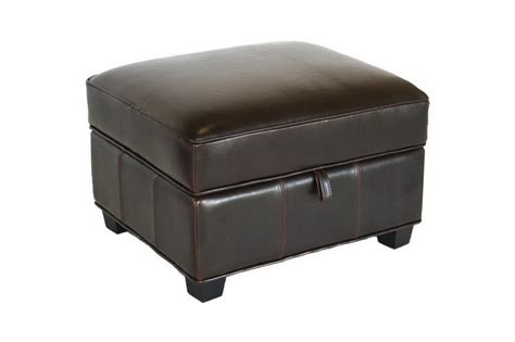 brown leather storage ottoman brown bi cast leather storage ottoman affordable modern