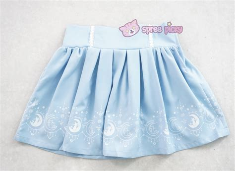 sailor moon dolly top and pastel blue skirt set sp152242