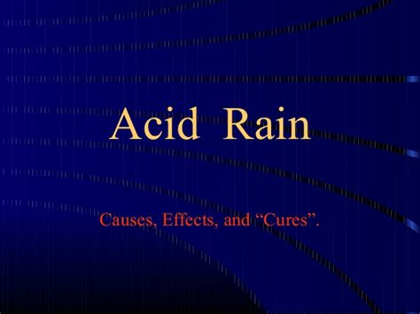 Acid Rain Ok Ppt Ppt Of Acid