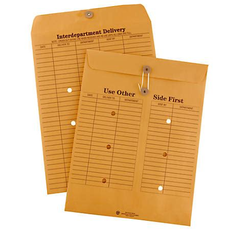 Office Depot Brand Interdepartment Envelopes 10 X 13 Brown Office Depot Envelope Templates
