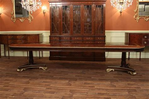 extra large mahogany duncan phyfe dining room table