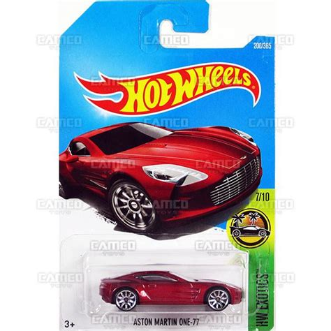 Aston Martin Merah 2017 Hotwheels Berkualitas aston martin one 77 200 2017 wheels basic j assortment camco toys