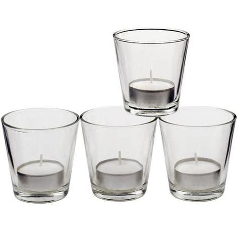 Glas Kerzenhalter Set by Teelicht Gl 228 Ser 4er Set Glas 6 5 Cm Teelichter