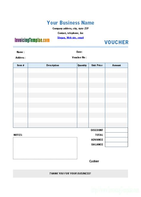 pay template payment voucher template